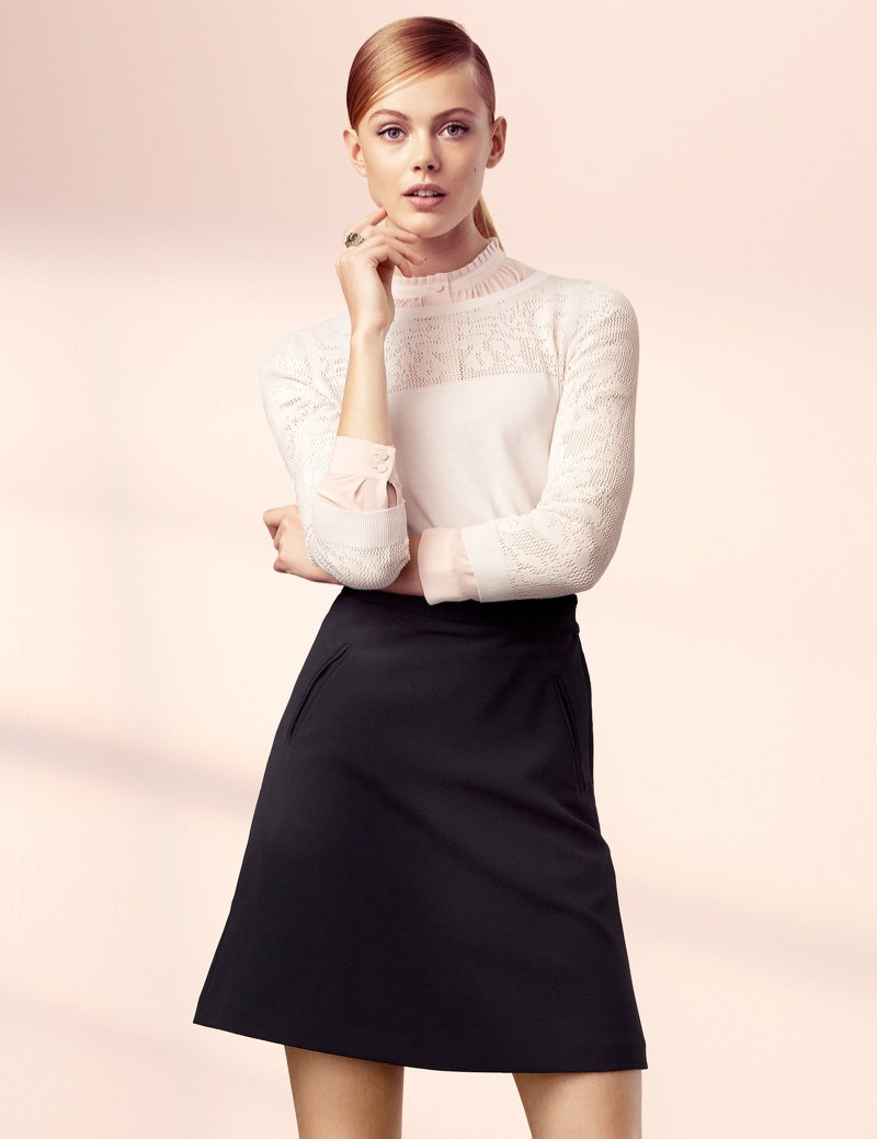 hm elegant5 Frida Gustavsson Models Effortless Elegance for H&M