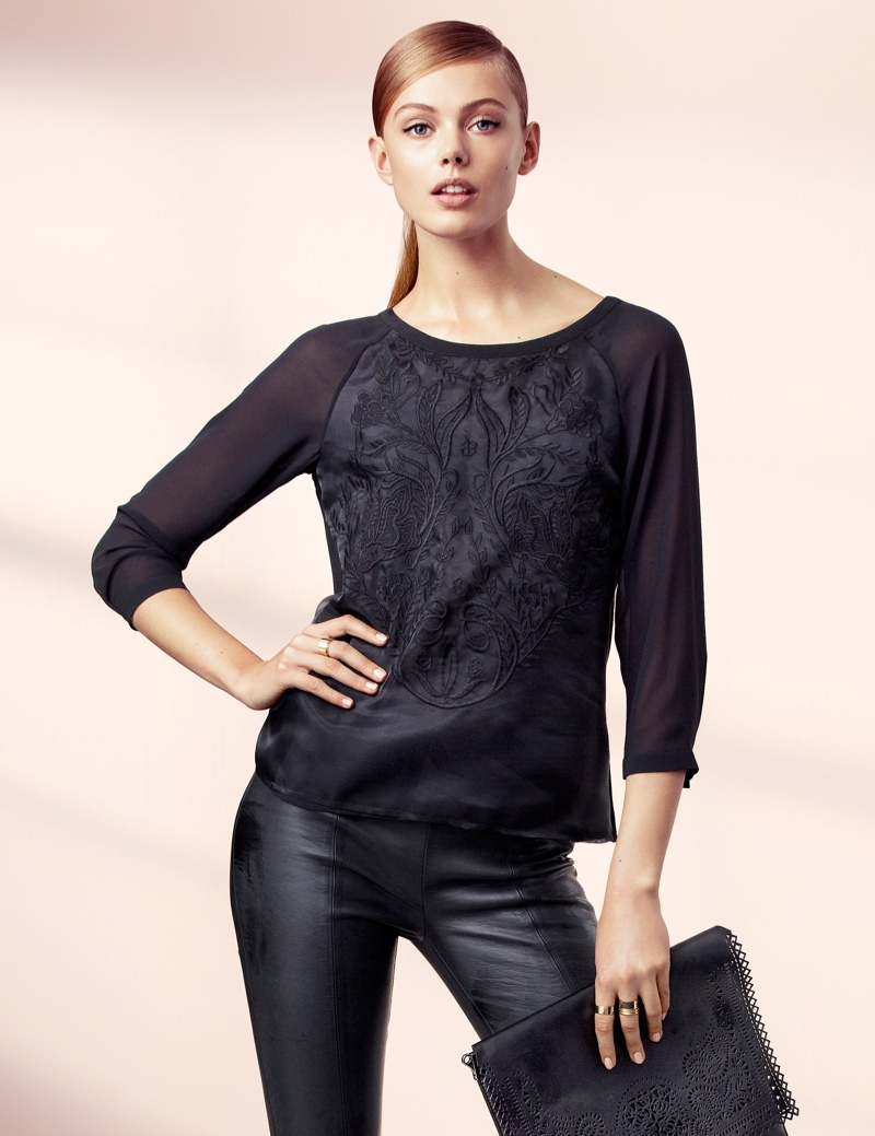 hm elegant8 Frida Gustavsson Models Effortless Elegance for H&M
