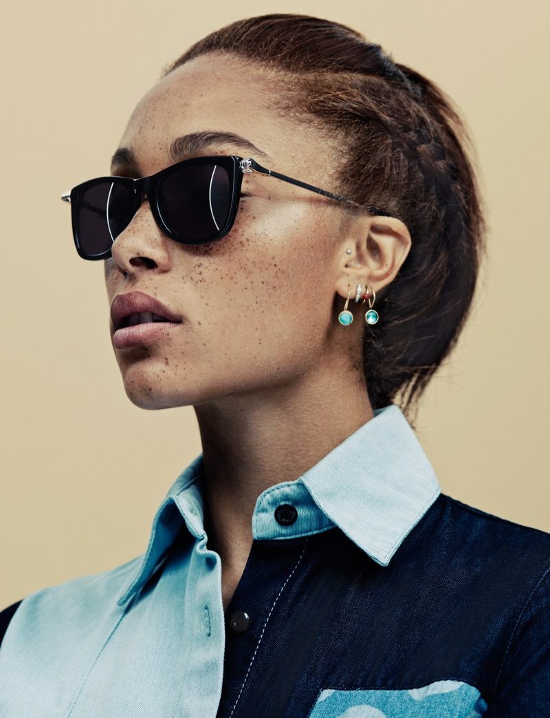 house of holland summer eyewear2 Adwoa Aboah Stars in House of Holland Summer 2013 Eyewear Campaign
