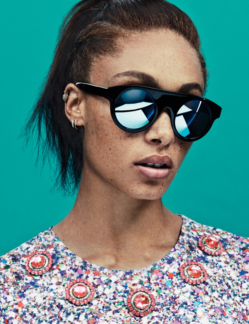house of holland summer eyewear3 Adwoa Aboah Stars in House of Holland Summer 2013 Eyewear Campaign