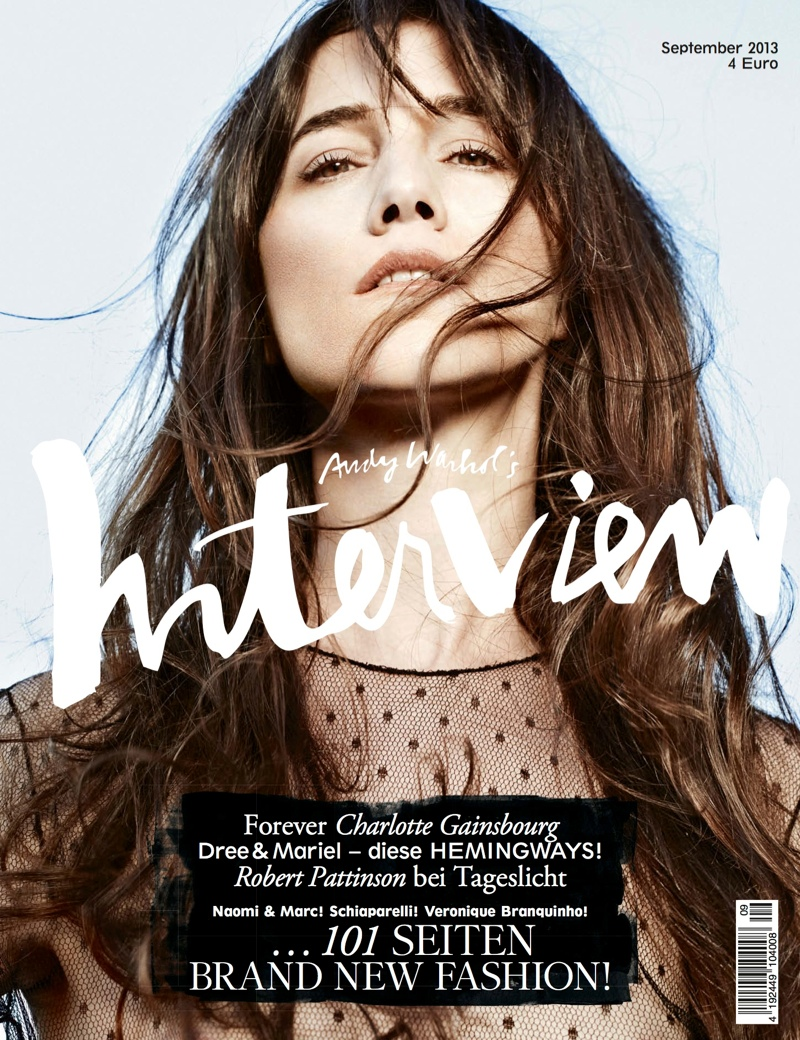 interview germany cover2 Dree Hemingway, Emily DiDonato & Charlotte Gainsbourg Cover Interview Germany September 2013