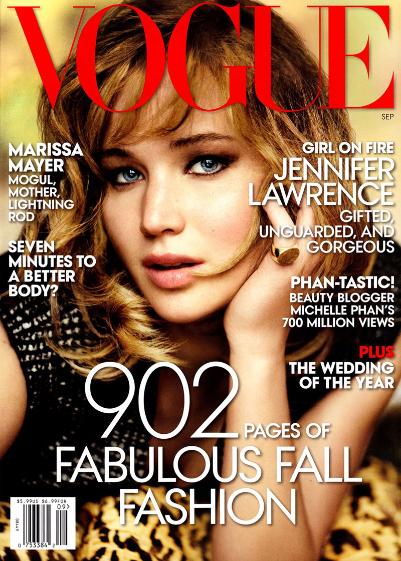 jennifer lawrence vogue cover Jennifer Lawrence Gets Her Close up for Vogues September 2013 Cover