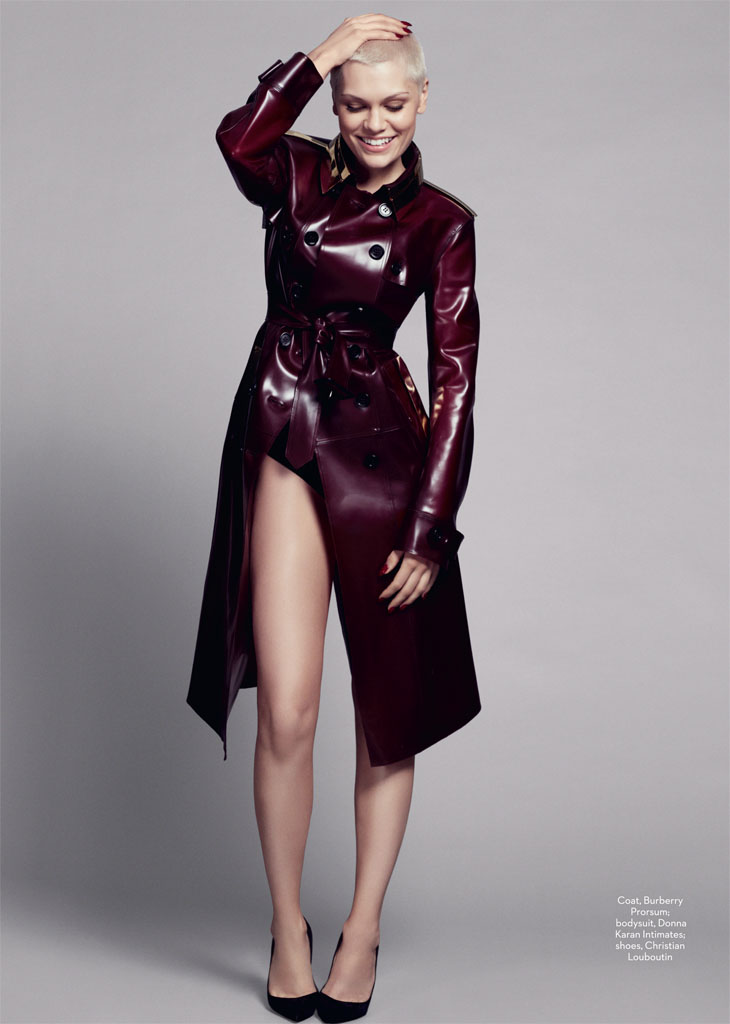 jessie j1 Jessie J Poses for David Roemer in Marie Claire UK September 2013