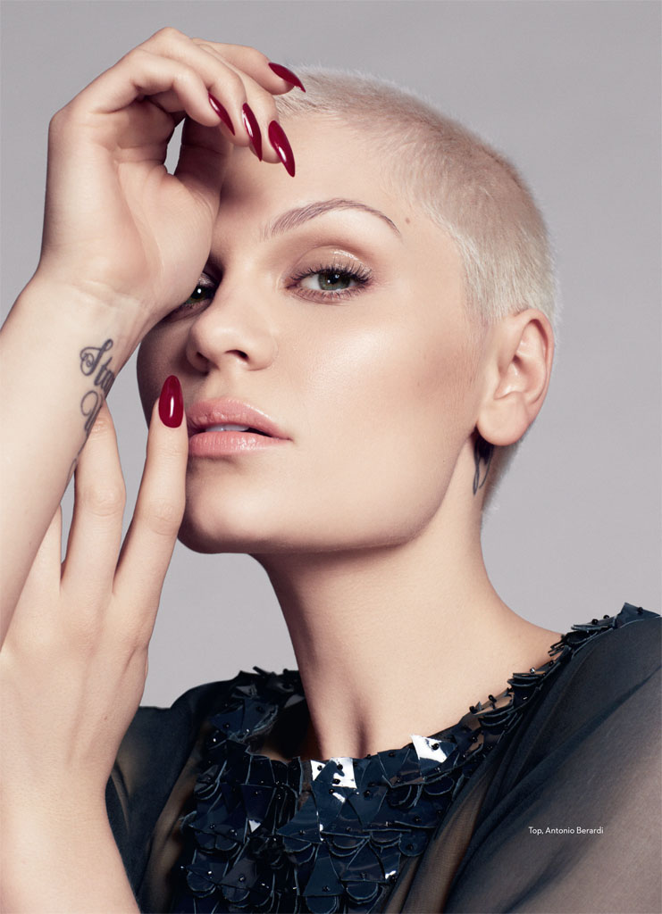 jessie j3 Jessie J Poses for David Roemer in Marie Claire UK September 2013