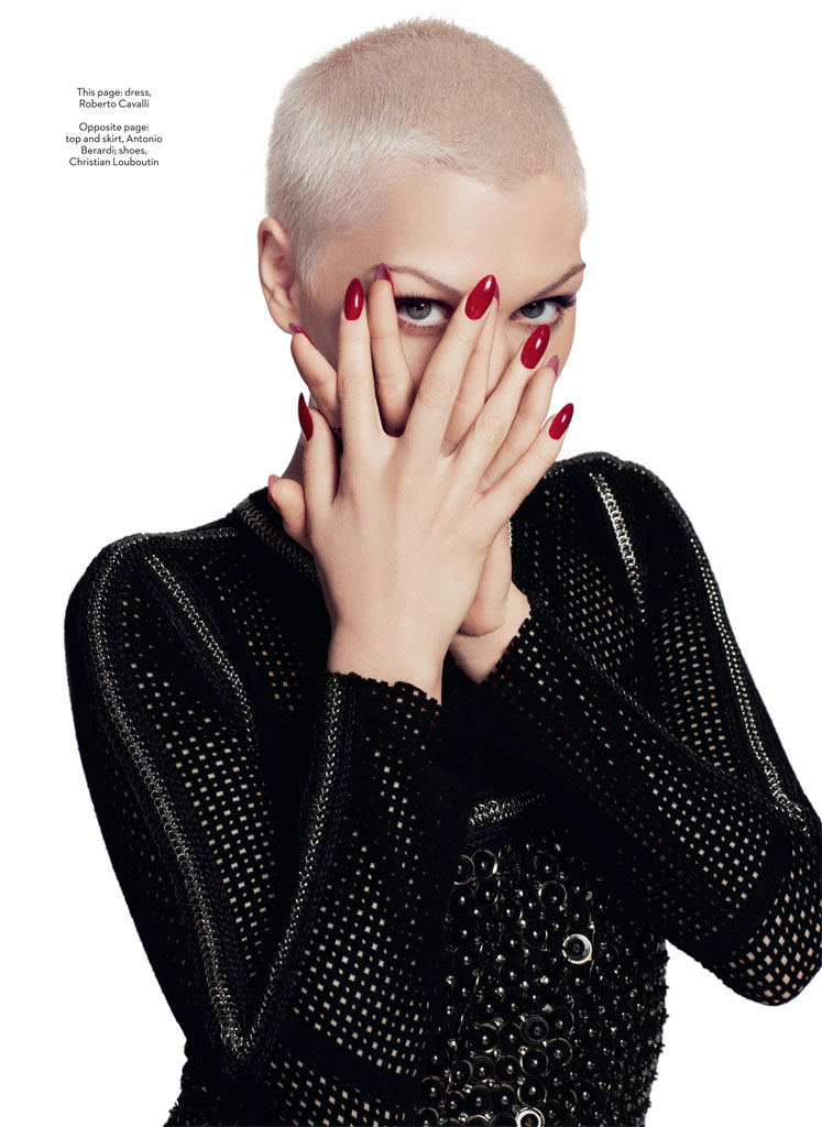 jessie j4 Jessie J Poses for David Roemer in Marie Claire UK September 2013