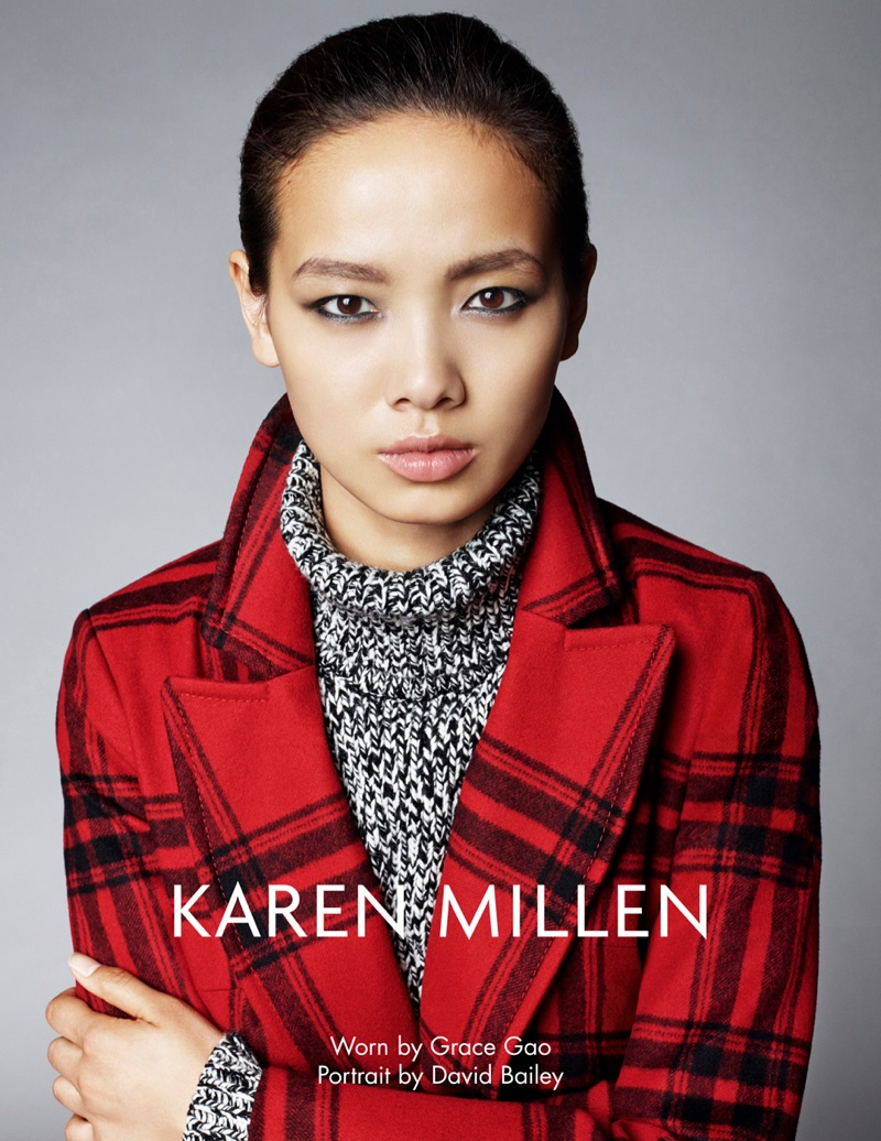 karen millen fw 2013 2 Karen Millen Fall 2013 Ads Enlist Karlina Cuane, Grace Gao & Others