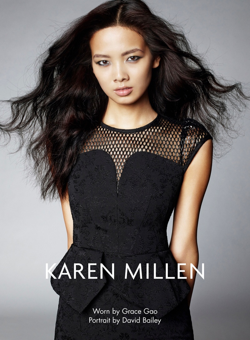 karen millen fw 2013 5 Karen Millen Fall 2013 Ads Enlist Karlina Cuane, Grace Gao & Others