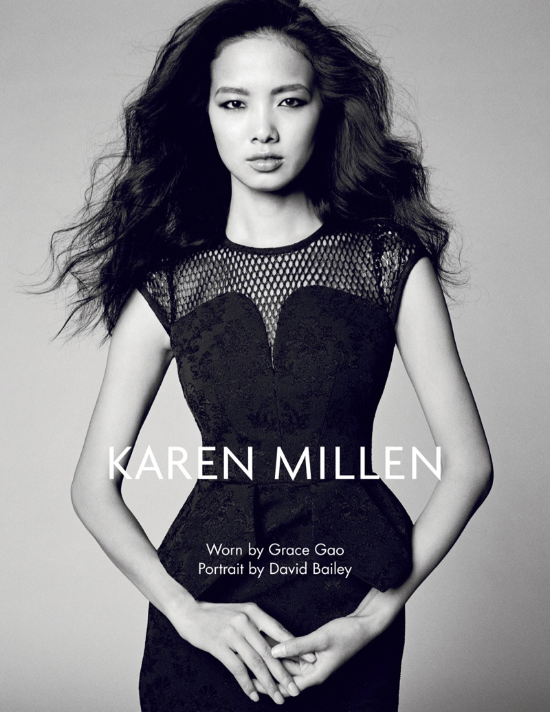 karen millen fw 2013 7 Karen Millen Fall 2013 Ads Enlist Karlina Cuane, Grace Gao & Others
