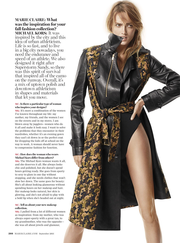 karmen michael kors shoot2 Karmen Pedaru Rocks Michael Kors for Marie Claire by David Roemer