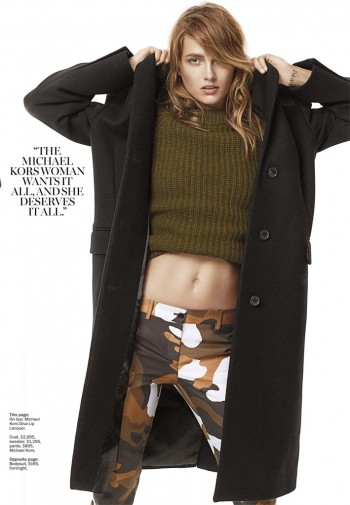 Karmen Pedaru Rocks Michael Kors for Marie Claire by David Roemer