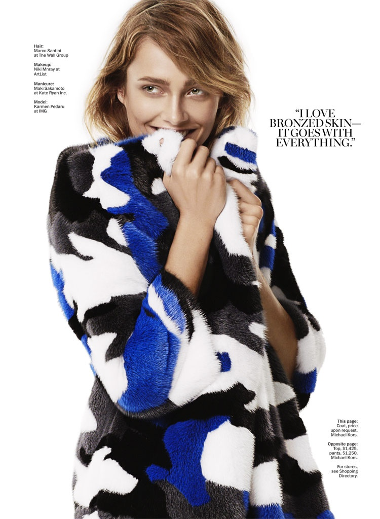 karmen michael kors shoot5 Karmen Pedaru Rocks Michael Kors for Marie Claire by David Roemer