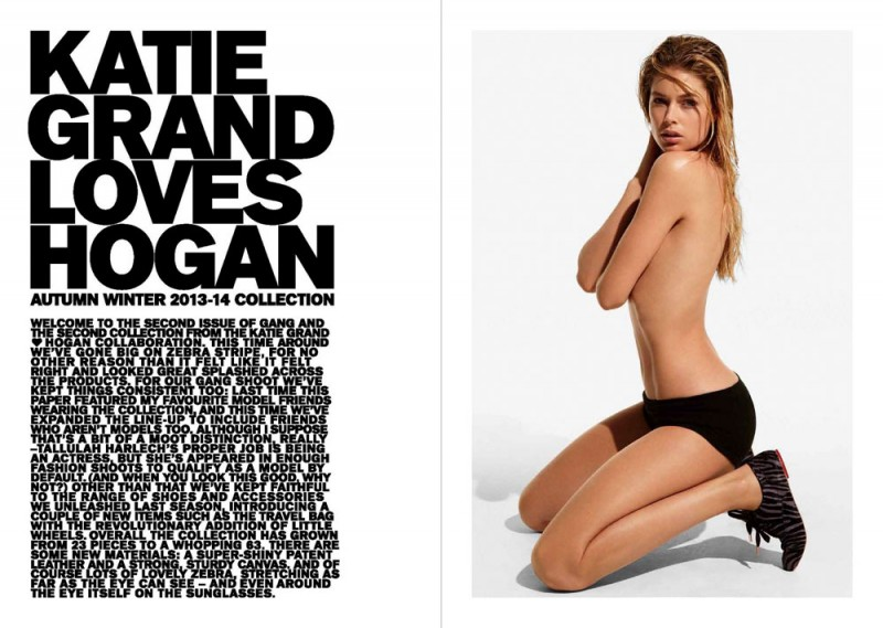 katie hogan fall3 800x569 Cara Delevingne, Doutzen Kroes & More Front Katie Grand x Hogan F/W 2013 Collection
