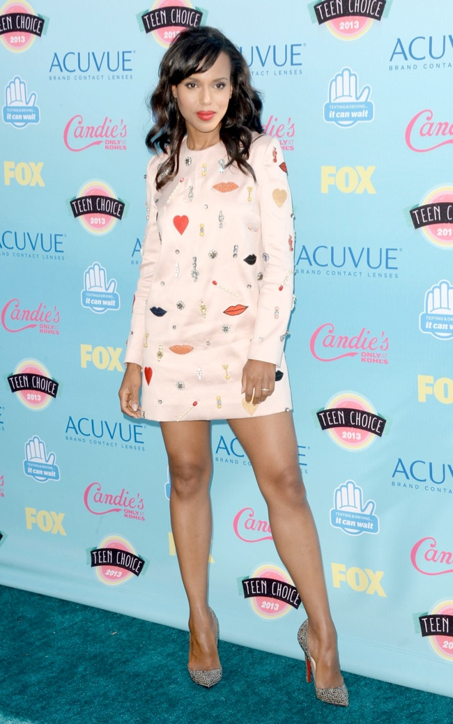 kerry washington stella mccartney Miley Cyrus in Saint Laurent, Nina Dobrev in J. Mendel & More Style at the Teen Choice Awards 2013