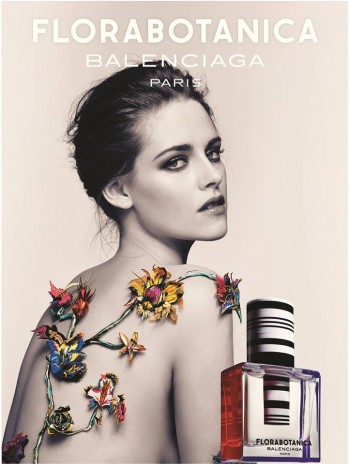 "Kristen Stewart Shows Skin in Balenciaga ""Florabotanica"" Fragrance Ad"