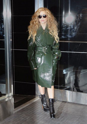 Lady Gaga Wears Calvin Klein Collection While Out in NYC