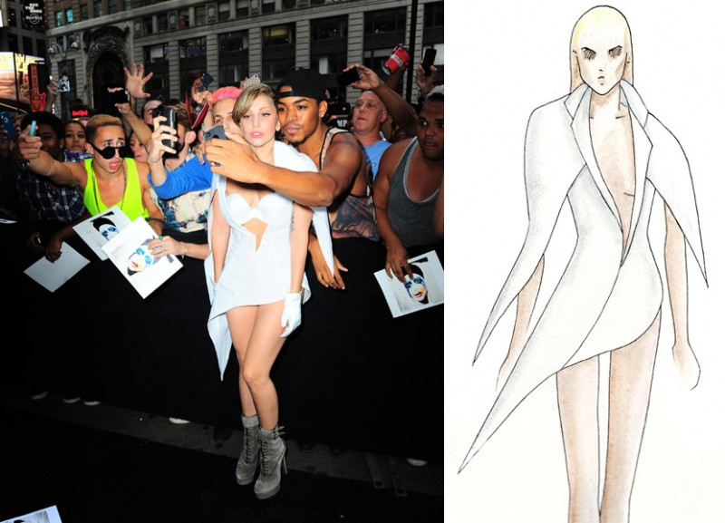 lady gaga mathieu mirano 800x577 Exclusive: Designer Mathieu Mirano Chats About Lady Gaga, Inspirations