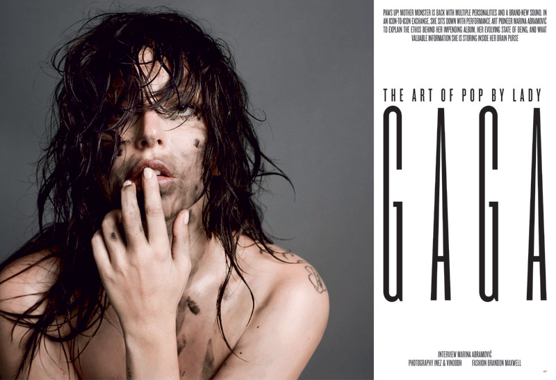 lady gaga v magazine 20133 Lady Gaga Covers V Magazine #85 in Saint Laurent