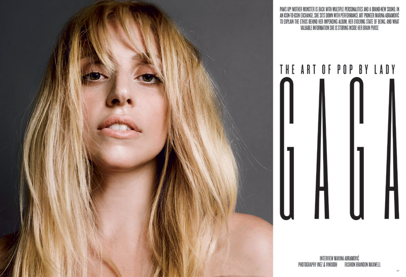 lady gaga v magazine 20135 Lady Gaga Covers V Magazine #85 in Saint Laurent