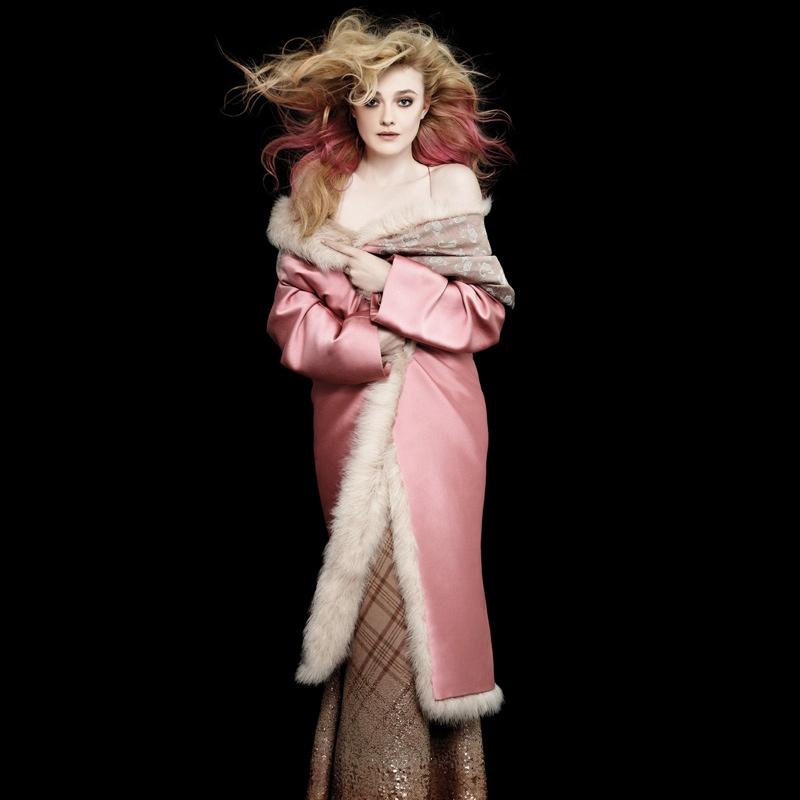 lagerfeld bazaar3 Karl Lagerfeld Shoots Scarlett Johansson, Dakota Fanning & More for Harpers Bazaar