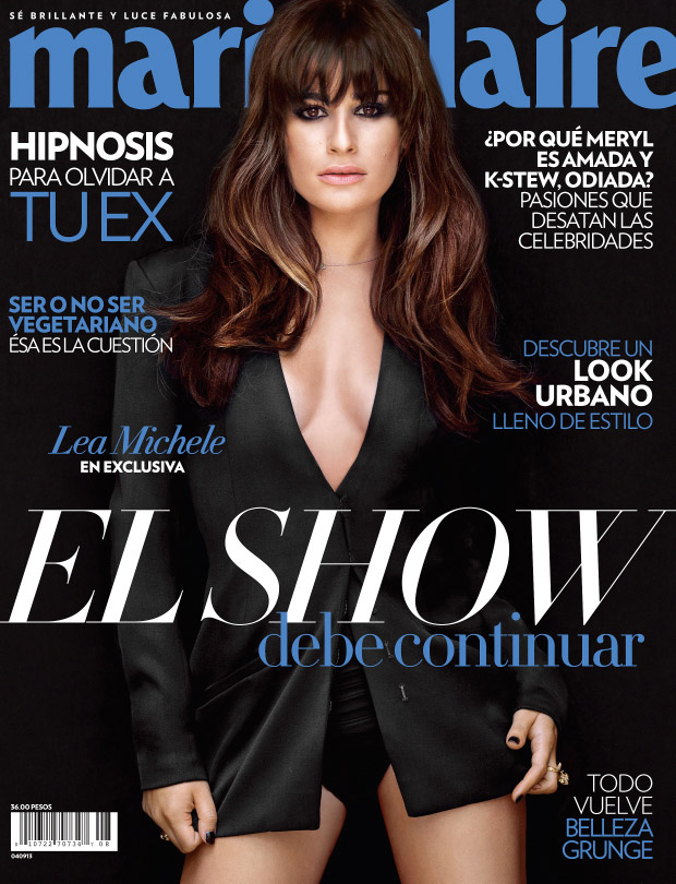 lea michele shoot1 Lea Michele Poses for Frankie Batista in Marie Claire Mexico August 2013