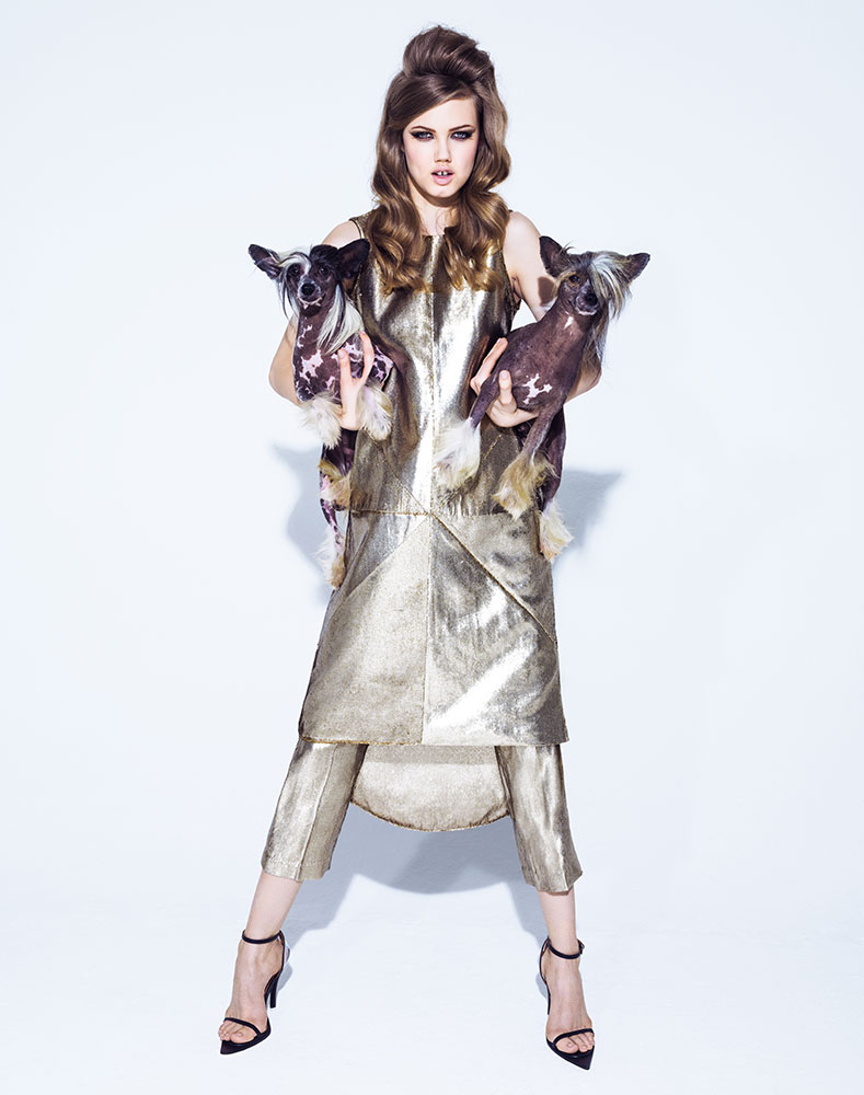 lindsey jacques dequeker11 Lindsey Wixson Has Canine Co Stars in Vogue Brazil Shoot by Jacques Dequeker