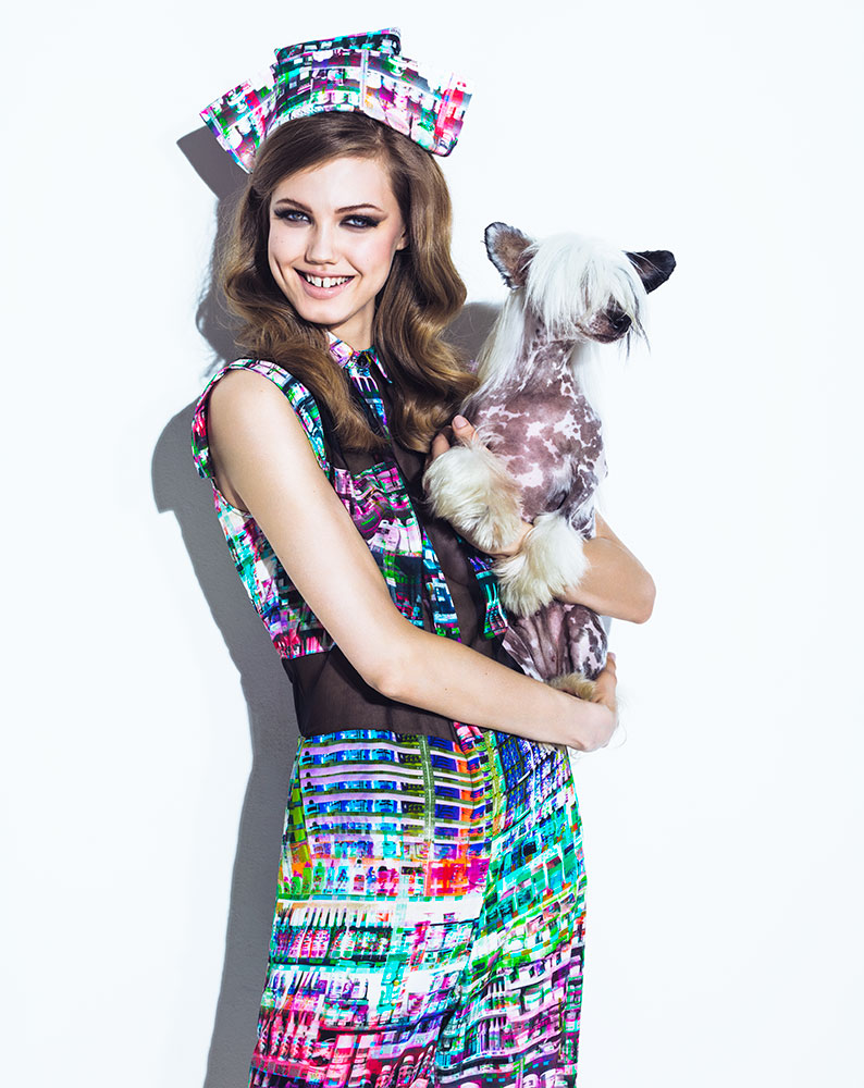 lindsey jacques dequeker12 Lindsey Wixson Has Canine Co Stars in Vogue Brazil Shoot by Jacques Dequeker