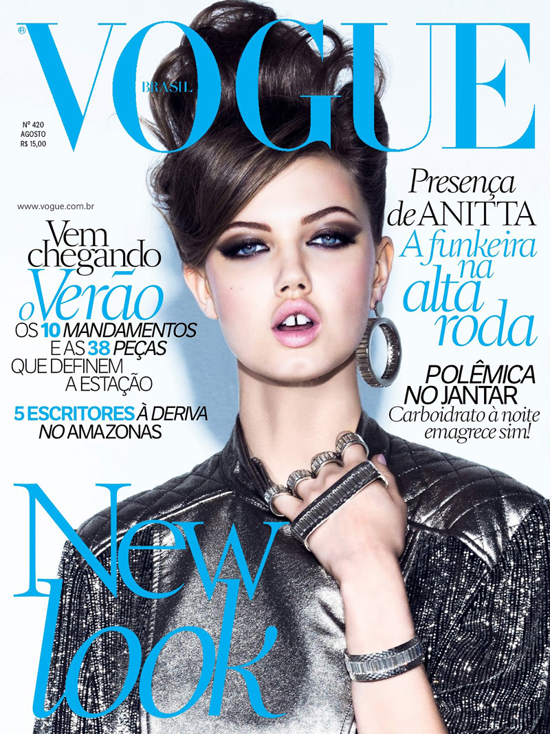 Lindsey Wixson Has Canine Co-Stars in Vogue Brazil Shoot by Jacques Dequeker