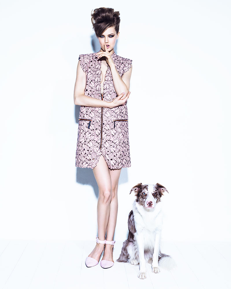lindsey jacques dequeker4 Lindsey Wixson Has Canine Co Stars in Vogue Brazil Shoot by Jacques Dequeker