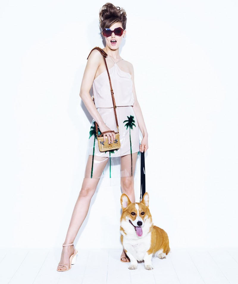 lindsey jacques dequeker5 800x954 Lindsey Wixson Has Canine Co Stars in Vogue Brazil Shoot by Jacques Dequeker
