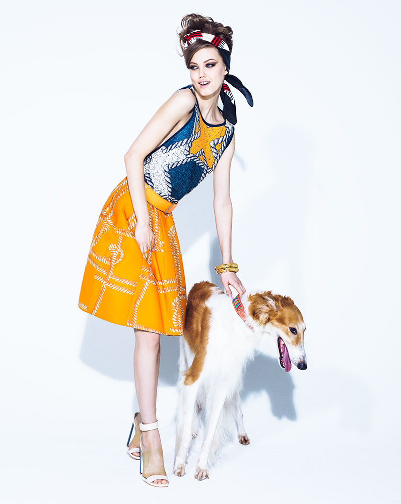 lindsey jacques dequeker7 Lindsey Wixson Has Canine Co Stars in Vogue Brazil Shoot by Jacques Dequeker