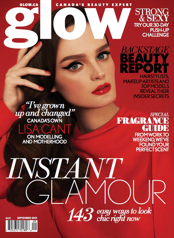 Lisa Cant Stars in Glow's September 2013 Edition