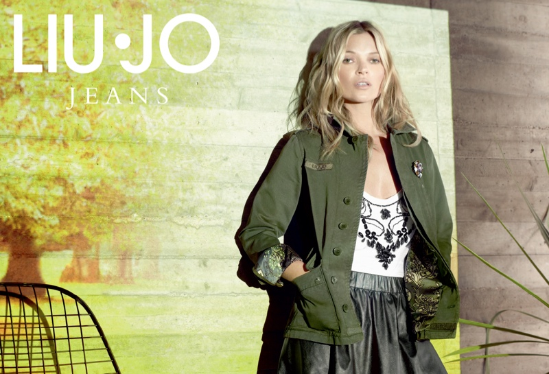 liu jo fall1 Kate Moss Stars in Liu Jo Fall 2013 Ads by Sølve Sundsbø