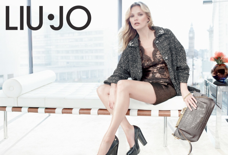 liu jo fall10 Kate Moss Stars in Liu Jo Fall 2013 Ads by Sølve Sundsbø