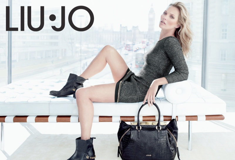 liu jo fall12 Kate Moss Stars in Liu Jo Fall 2013 Ads by Sølve Sundsbø