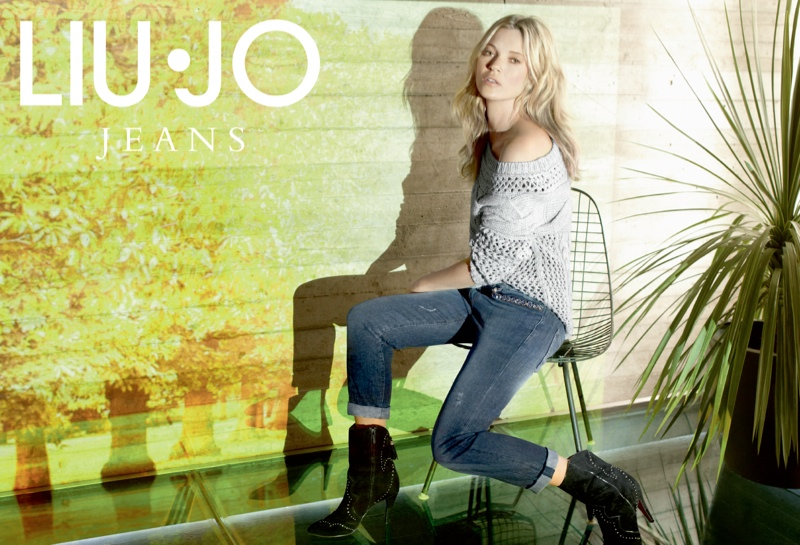 liu jo fall3 Kate Moss Stars in Liu Jo Fall 2013 Ads by Sølve Sundsbø