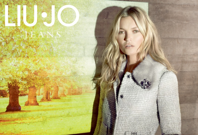 liu jo fall4 Kate Moss Stars in Liu Jo Fall 2013 Ads by Sølve Sundsbø