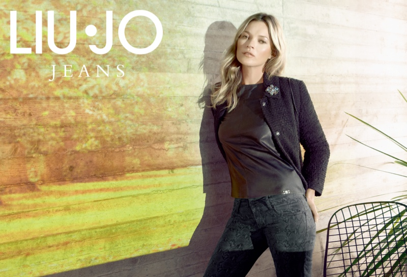 liu jo fall5 Kate Moss Stars in Liu Jo Fall 2013 Ads by Sølve Sundsbø
