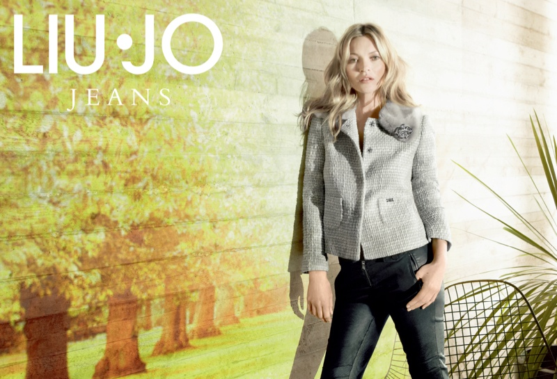 liu jo fall6 Kate Moss Stars in Liu Jo Fall 2013 Ads by Sølve Sundsbø
