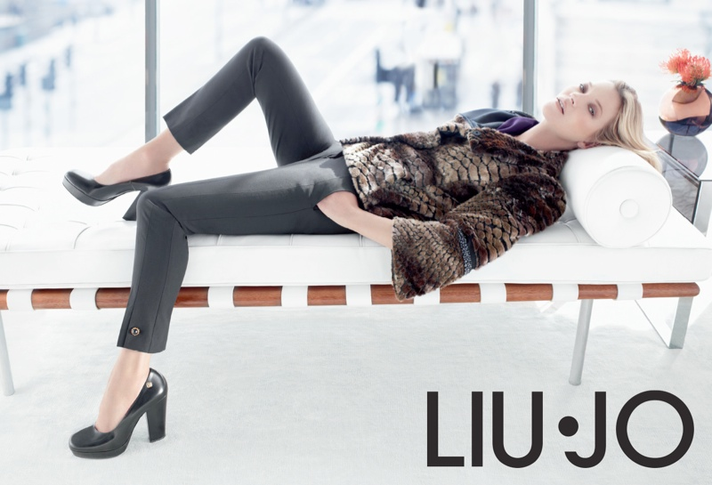 liu jo fall8 Kate Moss Stars in Liu Jo Fall 2013 Ads by Sølve Sundsbø