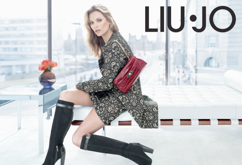 liu jo fall9 Kate Moss Stars in Liu Jo Fall 2013 Ads by Sølve Sundsbø