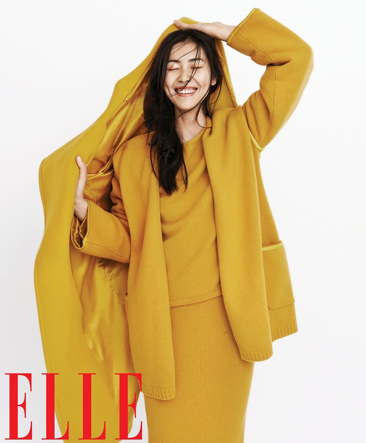 liu wen model1 Liu Wen Models Fall Looks for Elle Chinas September Issue