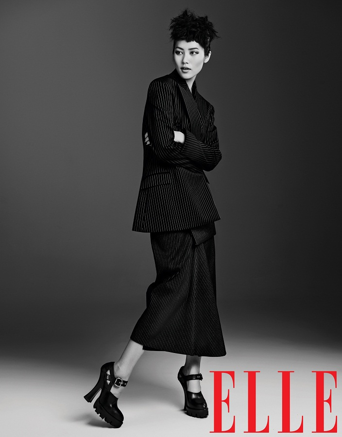 liu wen model13 Liu Wen Models Fall Looks for Elle Chinas September Issue