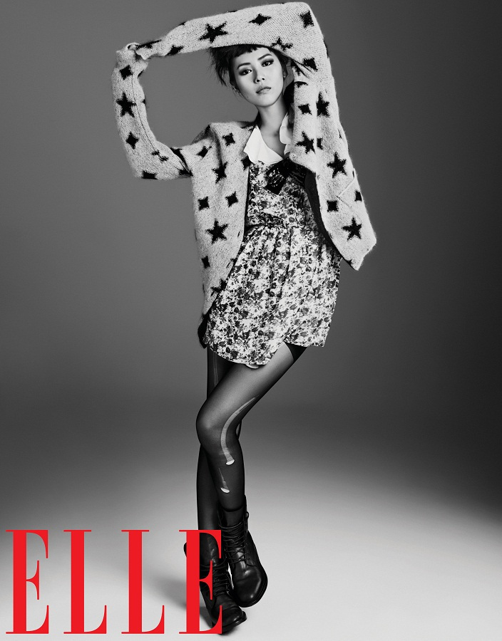 liu wen model14 Liu Wen Models Fall Looks for Elle Chinas September Issue