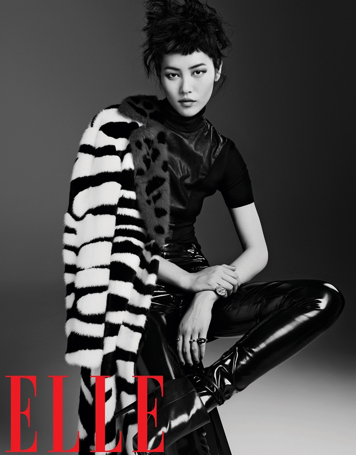 liu wen model15 Liu Wen Models Fall Looks for Elle Chinas September Issue