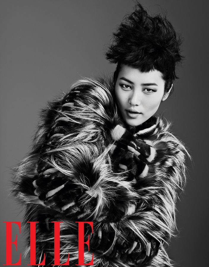 liu wen model16 Liu Wen Models Fall Looks for Elle Chinas September Issue