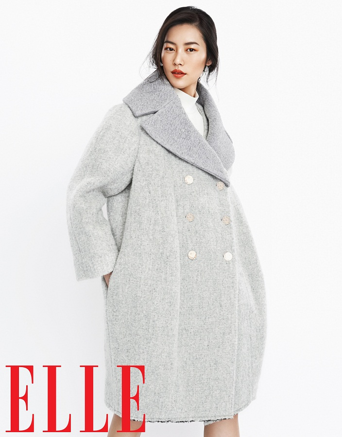 liu wen model3 Liu Wen Models Fall Looks for Elle Chinas September Issue