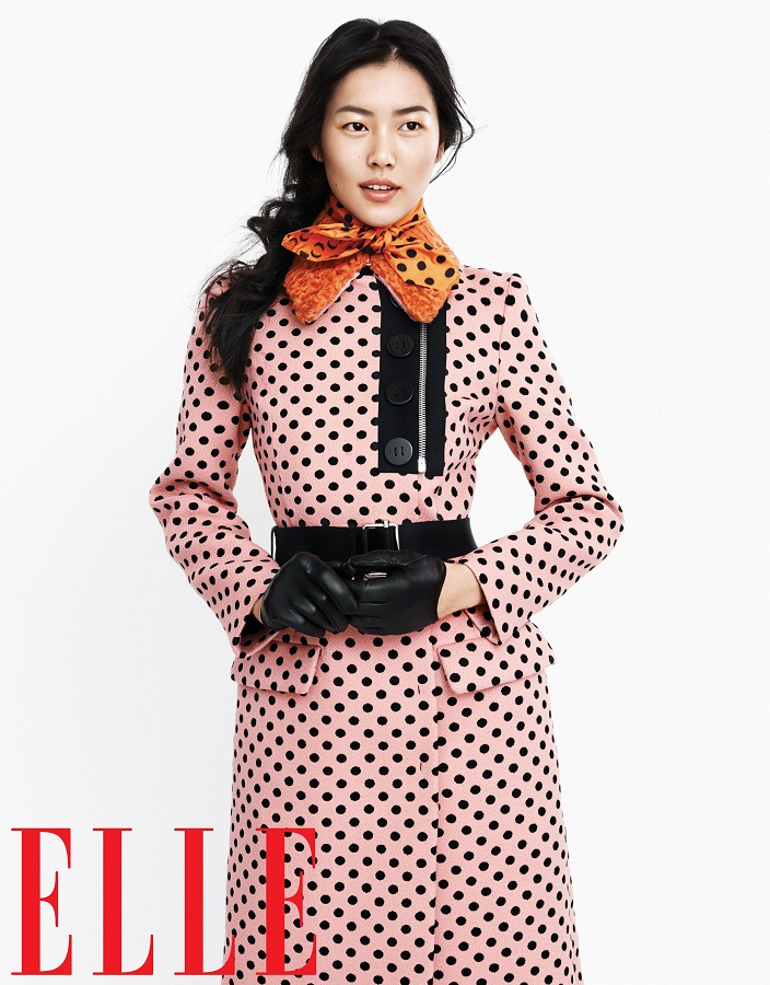 liu wen model5 Liu Wen Models Fall Looks for Elle Chinas September Issue