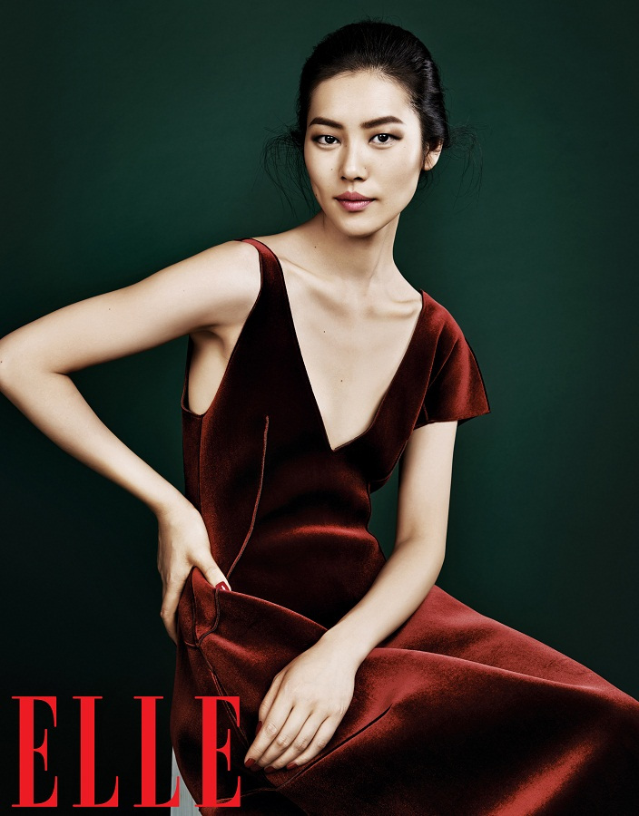 liu wen model8 Liu Wen Models Fall Looks for Elle Chinas September Issue