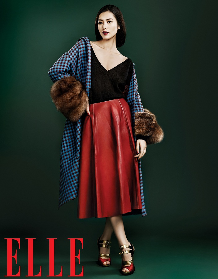 liu wen model9 Liu Wen Models Fall Looks for Elle Chinas September Issue
