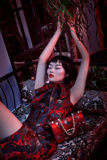 Li Xiao Xing Mesmerizes for L'Officiel China Shoot by Michelle Du Xuan
